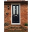 The Cardiff Composite Door in Black with Finesse Glazing