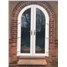 Arched uPVC French Door in White