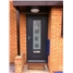 Ultimate Vogue Rockdoor in Onyx Black with Cube Glazing