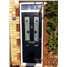 The Cardiff Composite Door in Black with Black Murano Glazing and Toplight
