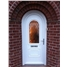 Epsom Scroll uPVC Door in White with Arched Frame