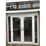 White French Doors with Black Diamond Sidelights