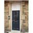 The Cardiff Composite Door in Anthracite Grey with Chrome Hardware