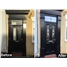 The Birmingham Composite Door in Black with Black Fusion Ellipse with Bespoke Toplight