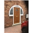 Brighton Glazed uPVC Door In Oak with Arched Frame