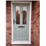 The Cardiff Composite Door in Chartwell Green with Flair Glazing