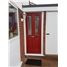 The Cardiff Composite Door in Red with Glazing