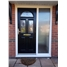 The Glasgow Composite Door in Black with English Rose and Sidelight