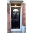The Glasgow Composite Door in Black with Blue Diamonds with Toplight