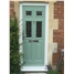 The Oxford Composite Door in Chartwell Green with Red Diamonds