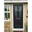 The Cardiff Composite Door in Black with Tate