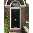 The Manchester Composite Door in Black with Arched Toplight