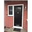 Ultimate Newark Rockdoor in Onyx Black with Square Lead and a Flag Window