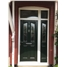 The Birmingham Composite Door in Green with English Rose and matching Side Panel with bespoke toplight