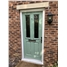 The Cardiff Composite Door in Chartwell Green with Glazing