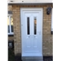 Irvine Clear Glazed uPVC Door with Bespoke Glass Design