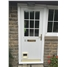 Kirkcaldy Half Flat Panel uPVC Door with Catflap and Flag Window