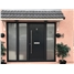 The Verwood Composite Door in Black with Black Sidelights