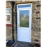 Kirkaldy Half Panel Flat uPVC Door with Toplight and Sycamore Glazing