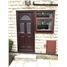The Glasgow Composite Door in Rosewood with Flag Window