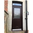 The Newfarn Composite Door in Rosewood with Toplight and Catflap