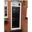 The Oxford Composite Door in Black with Glazing and Toplight