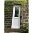 Narrow uPVC Door in White