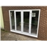 White uPVC French Door with Sidelights