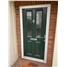 The Cardiff Composite Door in Green with Mayflower Backing Glass