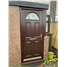 The Derby Composite Door in Rosewood with Red Daventry