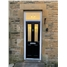 The Cardiff Composite Door in Black with Classic Glazing and bespoke Toplight