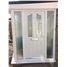 The Birmingham Composite Door in White with Crystal Harmony Frost and Sidelights