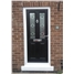 The Cardiff Composite Door in Black with Simplicity