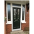 The Cardiff Composite Door in Black with Zinc Art Elegance and Toplight and Two Flag Windows