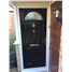 The Derby Composite Door in Black with Crystal Harmony Frost