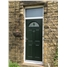 The Derby Composite Door in Green with Green Diamonds and Toplight