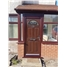 The Derby Composite Door in Rosewood with Crystal Bohemia Frost