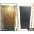 The Newcastle Composite Door in Black (before & after)