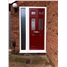 The Oxford Composite Door in Red with Sidelight