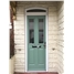 The Cardiff Composite Door in Chartwell Green with Glazing and Toplight