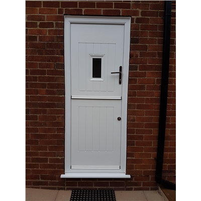 Ultimate Stable Spy Rockdoor in White with Glazing