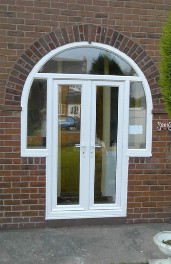 Arched frames at value doors for Arched upvc french doors