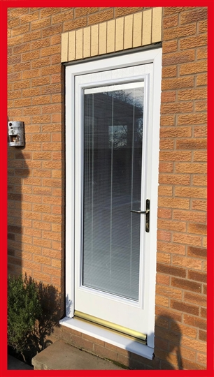 Integral Blinds in Doors