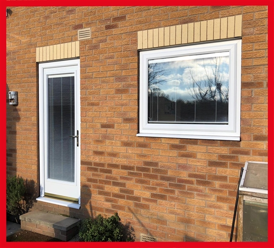 Integral Blinds in Door and Window