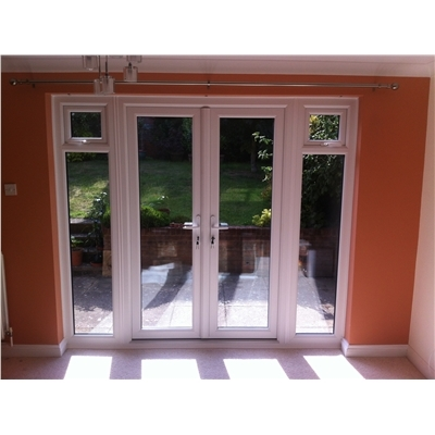 Open up room space in style with french doors for French doors with side windows that open