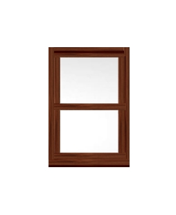 uPVC Sliding Sash Windows in Rosewood
