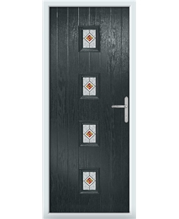 The Uttoxeter Composite Door in Grey (Anthracite) with Daventry Red