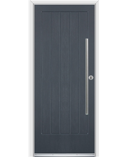 Ultimate Indiana Rockdoor in Anthracite Grey with Bar Handle
