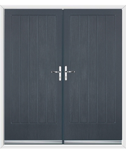 Indiana French Rockdoor Anthracite Grey
