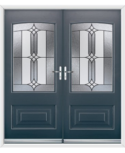 Portland French Rockdoor in Anthracite Grey with Apostle Glazing